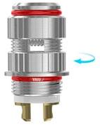 Cabezal RBA CLR Ti - Entrada de líquido regulable