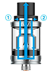Vaporesso Tarot Nano kit- Flujo de aire