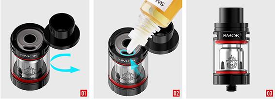 Atomizador Smok TFV8 X Baby- recarga de líquido