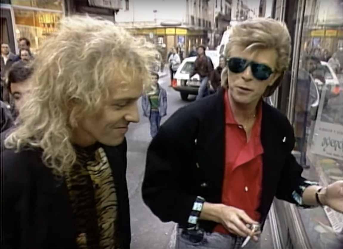 David Bowie y Peter Frampton, 1987