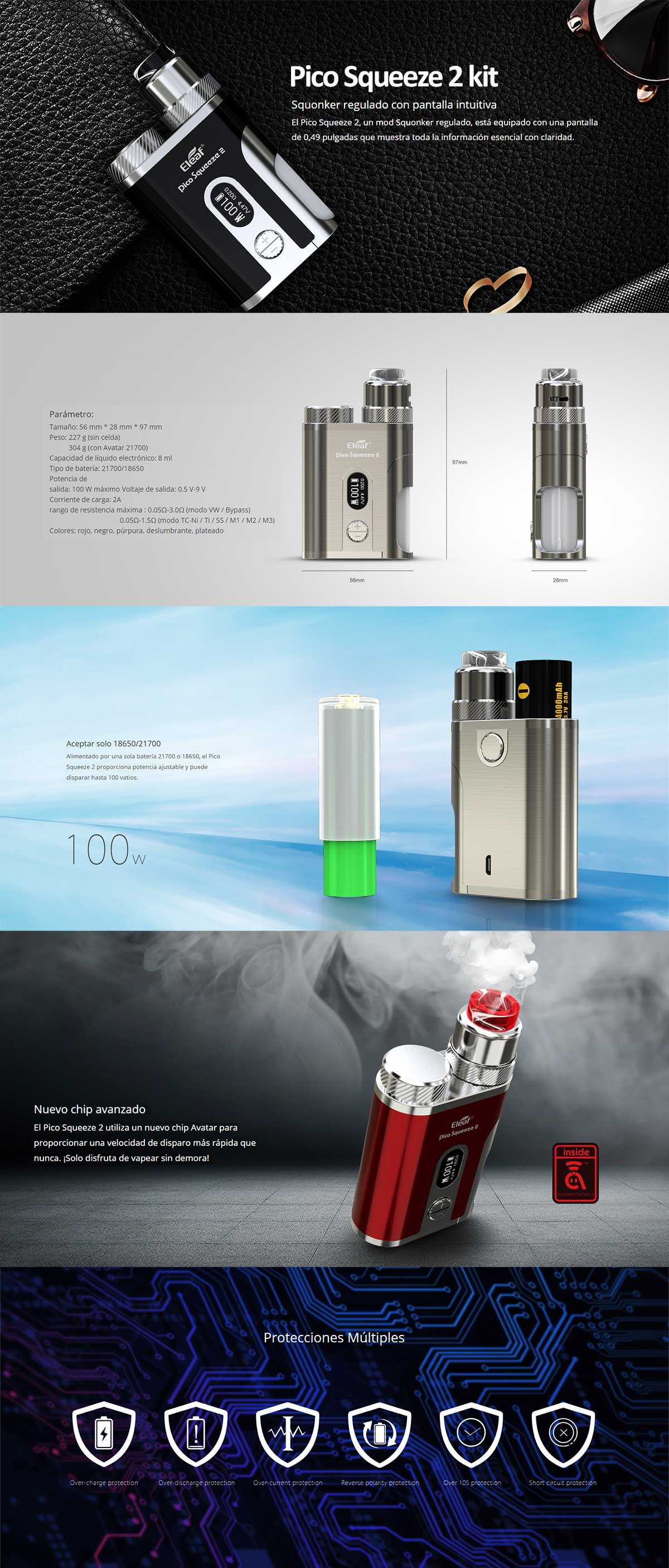 Eleaf Pico Squeeze 2 kit Coral 2