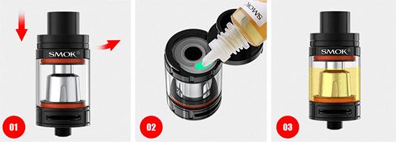 Atomizador Smok TFV8 Big Baby- recarga de líquido