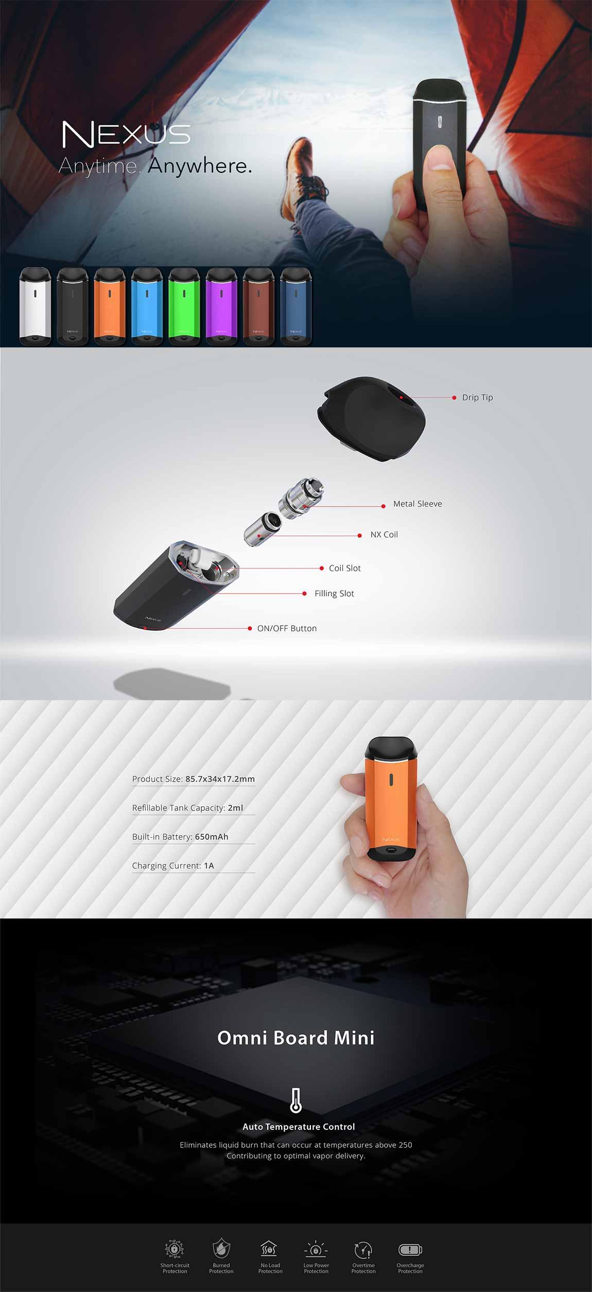 Vaporesso Nexus AIO kit, detalle