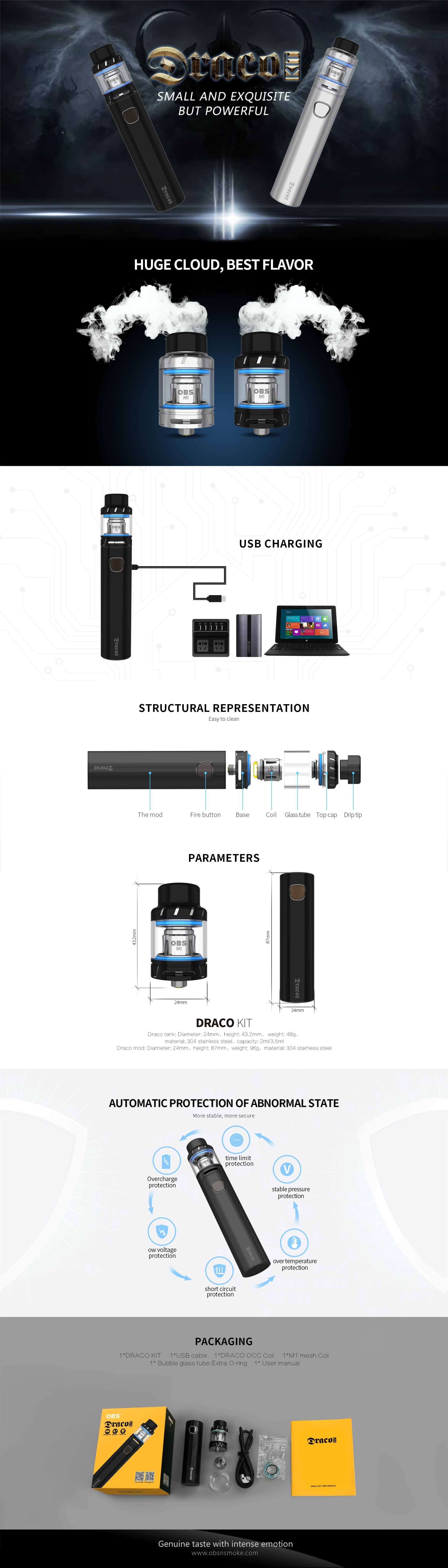 OBS Draco kit, detalle