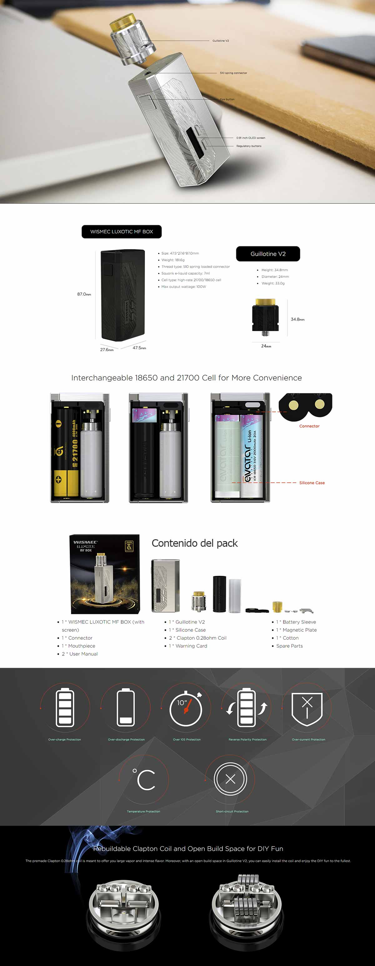 Wismec Luxotic MF kit - características