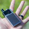 Lost Vape Orion DNA GO 40W kit Silver Carbon Fiber tamaño