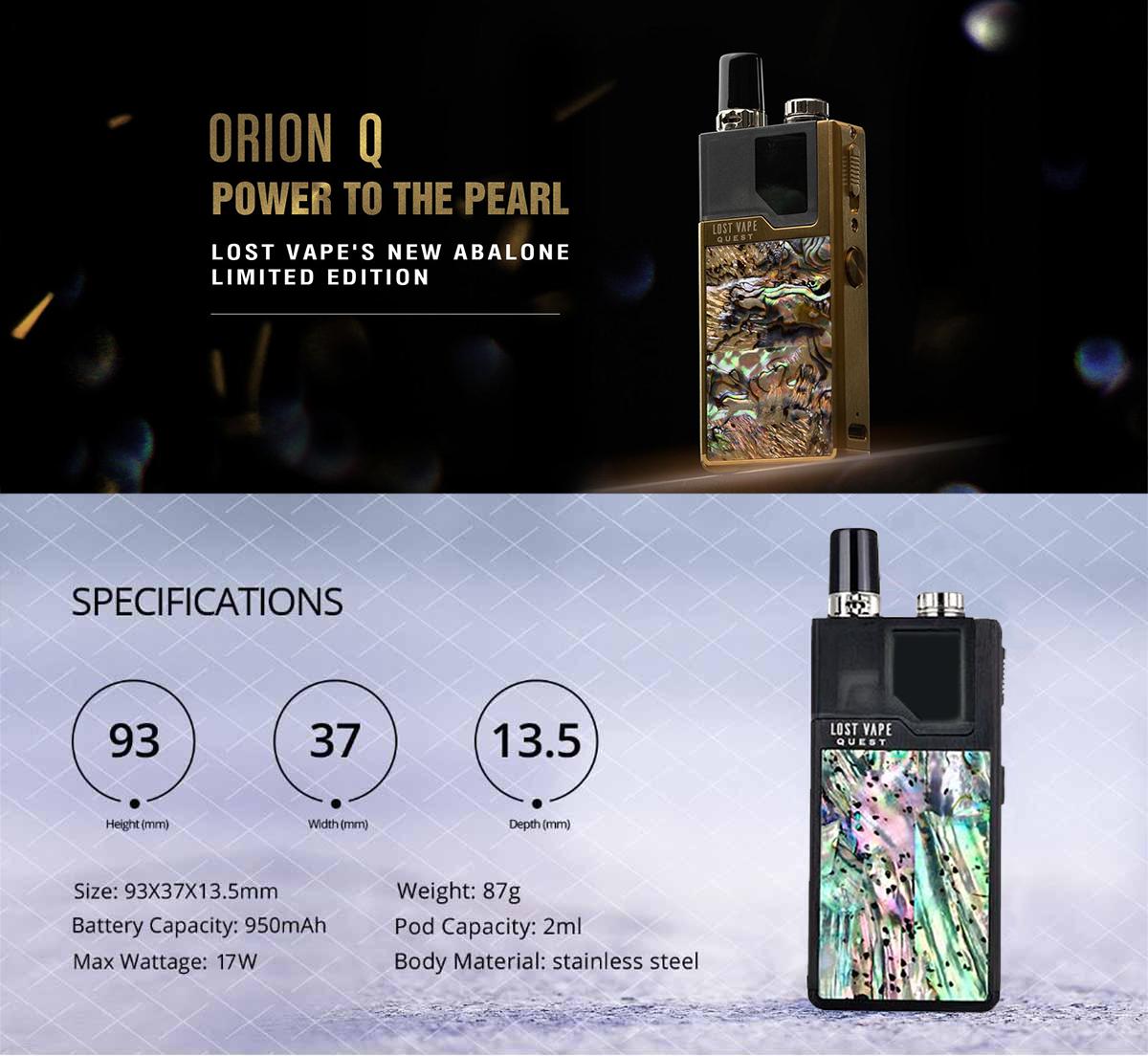 Comprar Lost Vape Orion Q 17W Kit, características