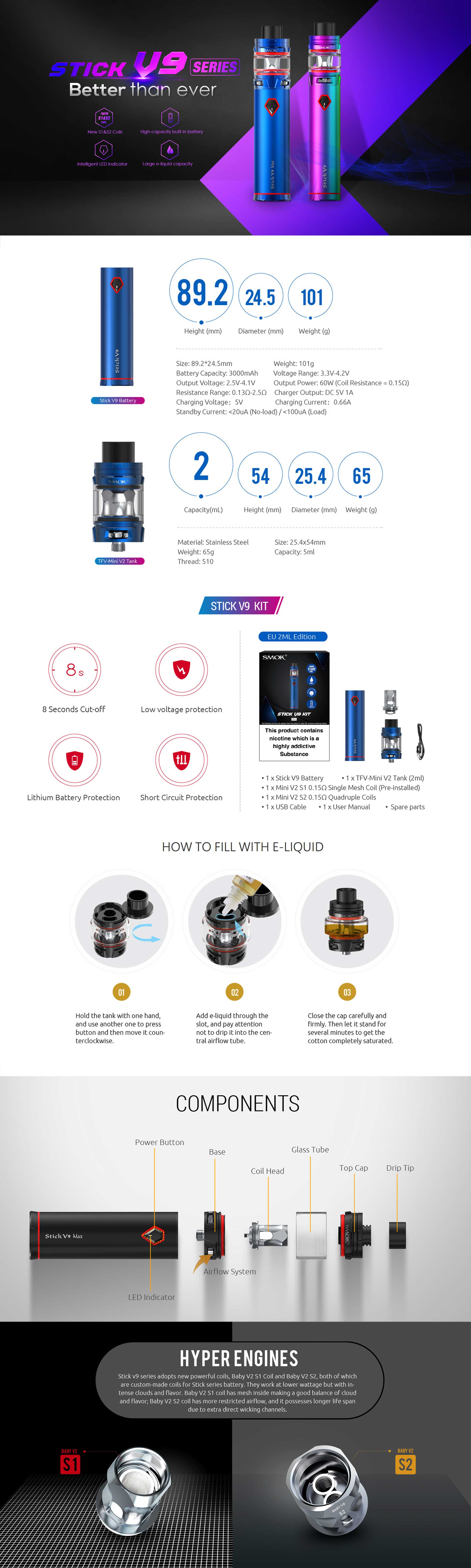 Comprar Smok Stick V9 Kit, características