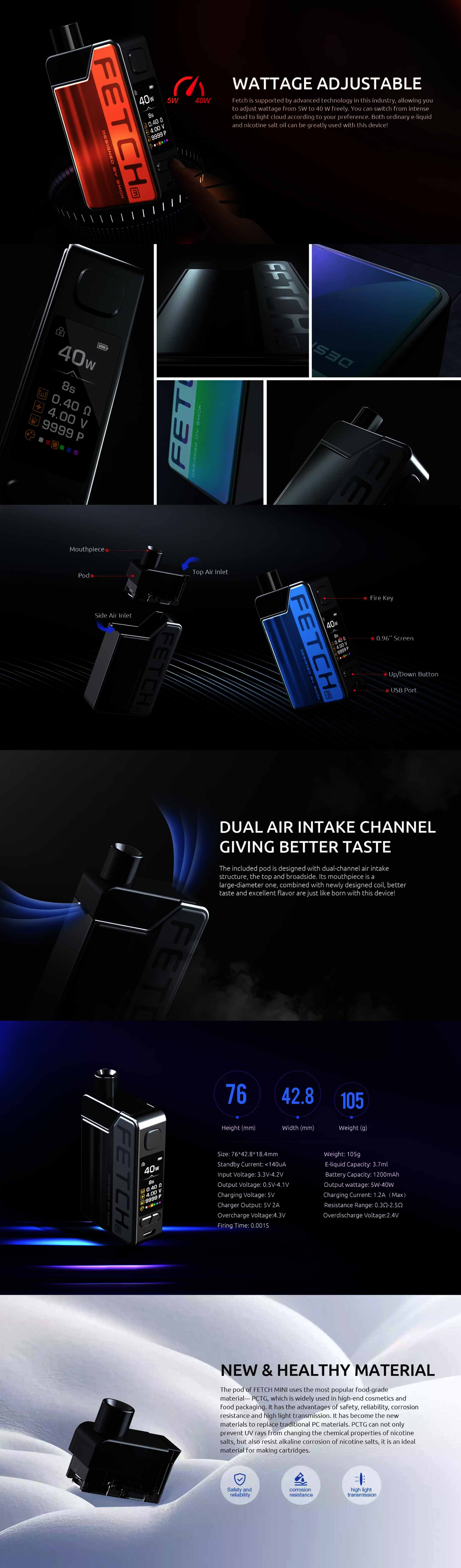 Smok Fetch Mini Kit características