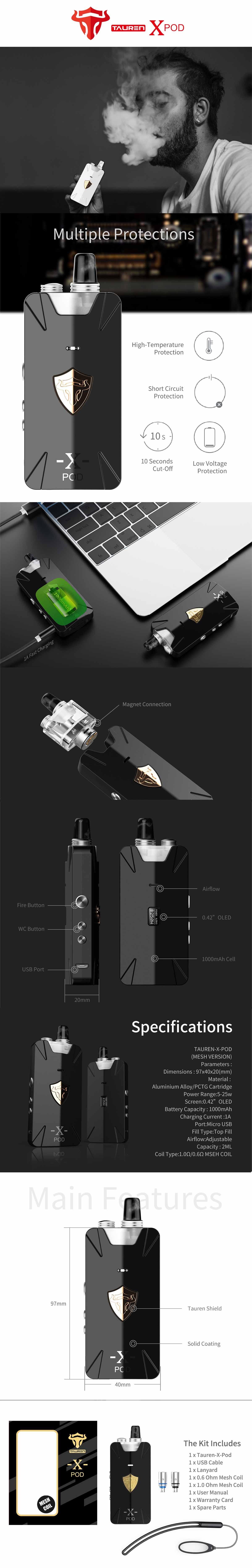 Tauren X Pod Thunderhead Creations, características