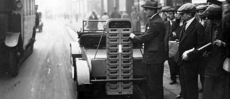 Máquinas expendedoras. Vending 1928-1961